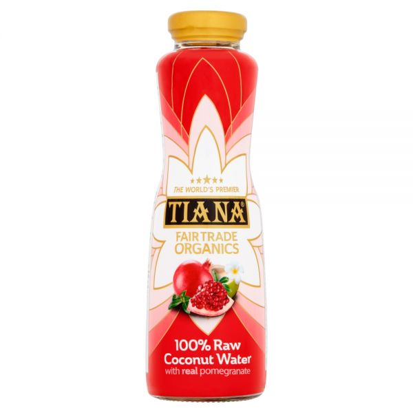 TIANA® Fairtrade Organics Raw Pure Coconut Water with Real Pomegranate