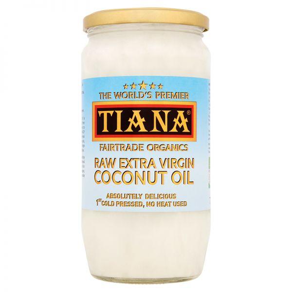 TIANA® Fairtrade Organics Raw Extra Virgin Coconut Oil 750ml