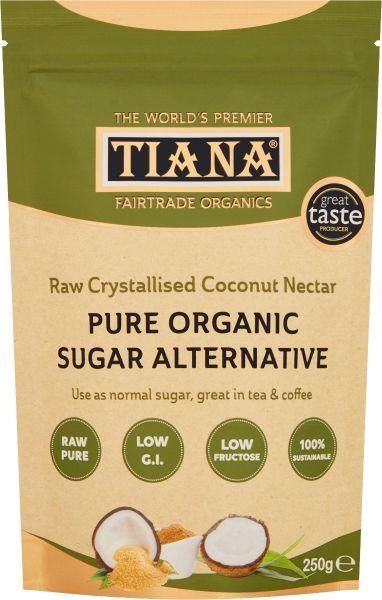 TIANA® Fairtrade Organics Sugar Alternative Raw Crystallised Coconut Nectar 6 for 5