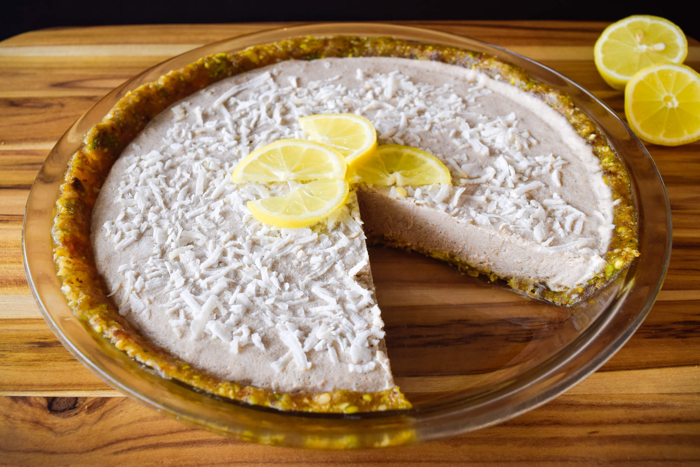 Raw Coconut Lemon Pie