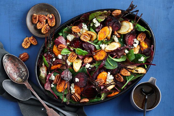 Roasted Winter Vegetables and Watercress Salad